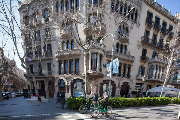 Barcelona street typical house