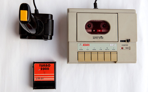 Atari XC 12, Turbo 2000 cartridge, Sony HF 90 cassette
