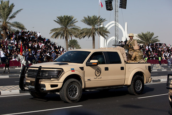 Qatar National Day parade Ford Raptor military