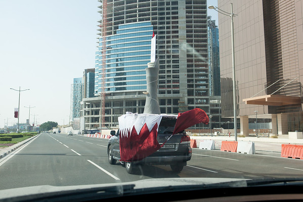 Qatar National Day car decoration