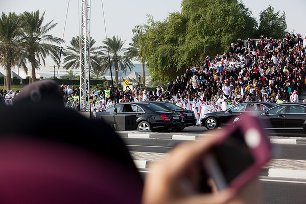 Qatar National Day emir entourage