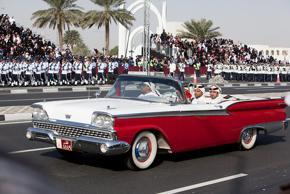 Qatar National Day parade police oldtimers
