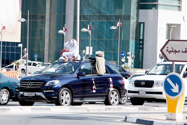 Qatar National Days car celebrations