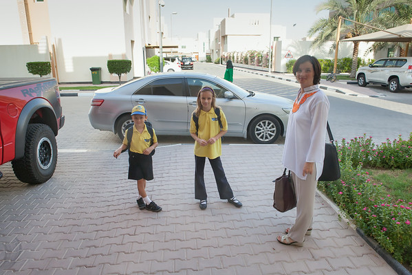 Kids going to Compass International School