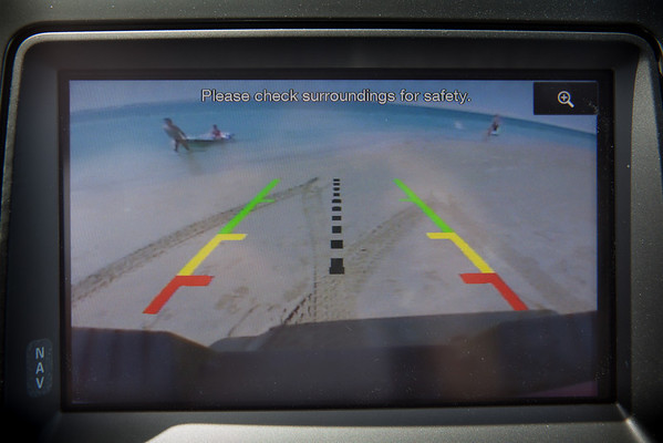 Ford Raptor rear camera view