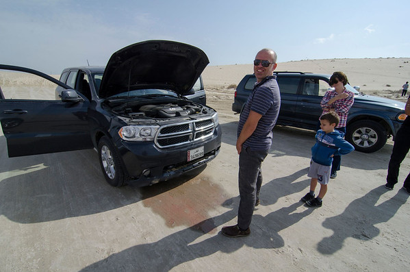 Car problem in the desert Qatar