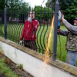Železná část plotu byla pryč za pár minut
