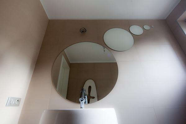 Lepení zrcadel koupelna Klánovice