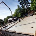 Krycí betonová mazanina na základové desce