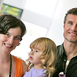 David Coulthard with Bea and Timi
