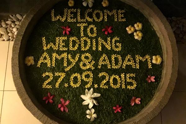 Bali květinový nápis svatba