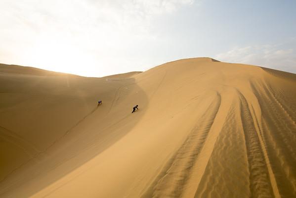 Katar poušť duny děti