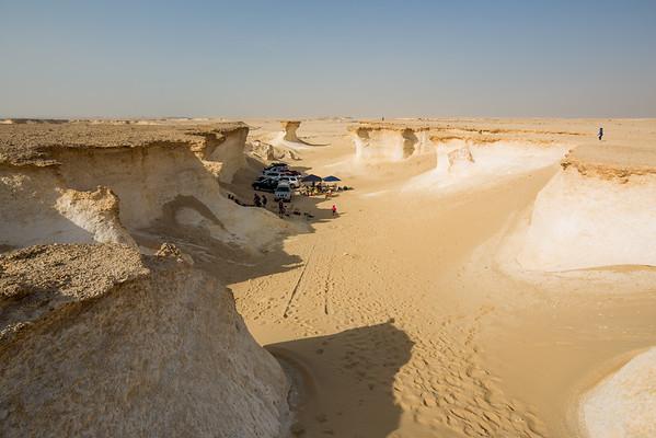 Katar Zekreet skály poušť