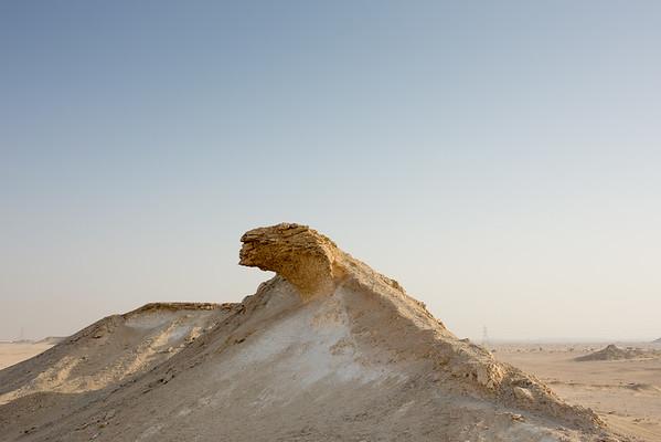 Qatar Zekreet rocks Katar poušť skály