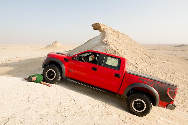 Katar skály Zekreet Ford F-150 Raptor