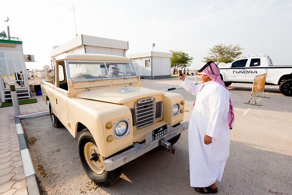Land Rover Seriess IIA pick up  Qatar Zubarah fort