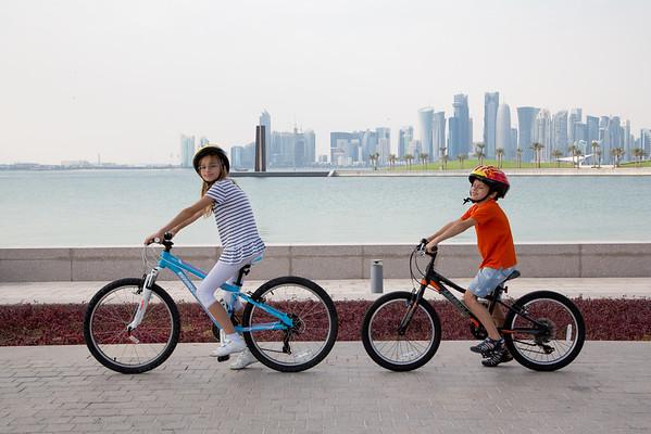 Doha Qatar cycling kids Timea Jarosova Martin Jaros