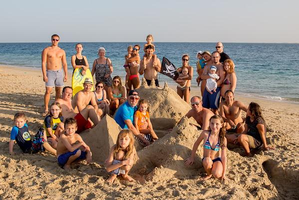 Czech community on the beach in Qatar