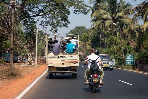 Goa India traffic