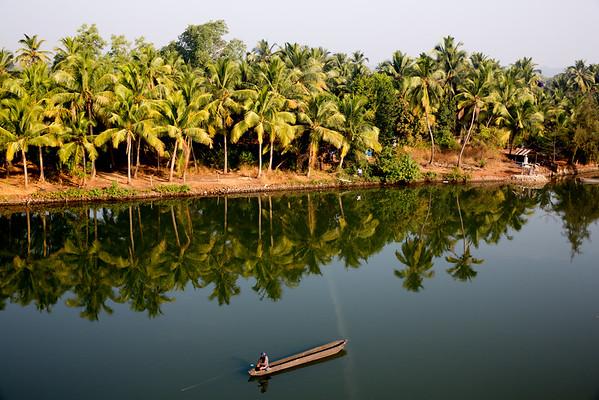 Goa India river