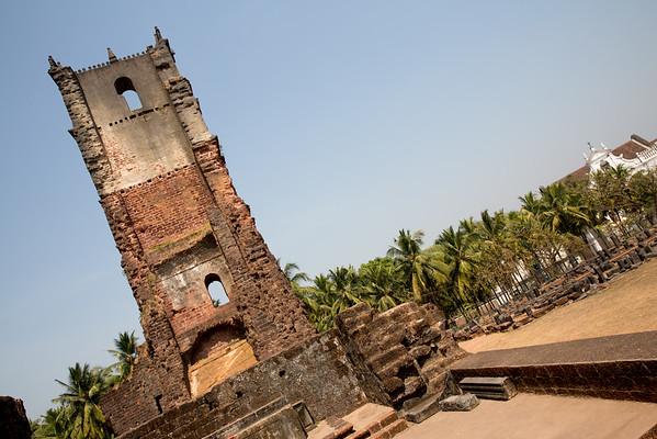 St Augustine ruins Goa India