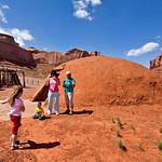 A traditional Navajo hogan