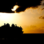 Fellow vessel leaving the Port of Nassau, Bahamas